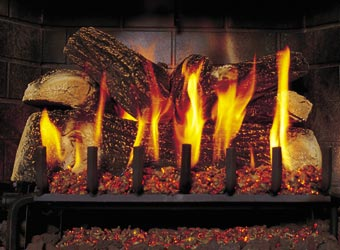 See-Thru 5 Burner Gas Log Fireplace