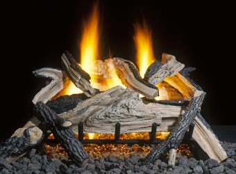 Sand Burner Gas Log Fireplace